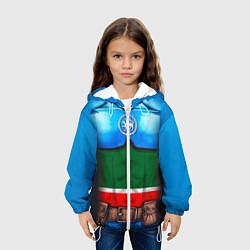 Куртка с капюшоном детская Капитан Татарстан цвета 3D-белый — фото 2