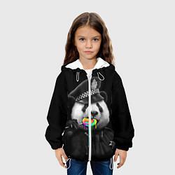 Куртка с капюшоном детская Панда с карамелью цвета 3D-белый — фото 2