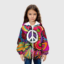 Куртка с капюшоном детская Хиппи 2 цвета 3D-белый — фото 2