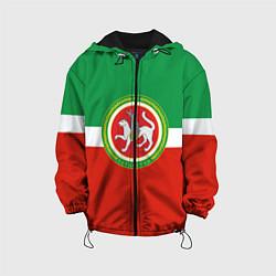 Куртка с капюшоном детская Татарстан: флаг цвета 3D-черный — фото 1