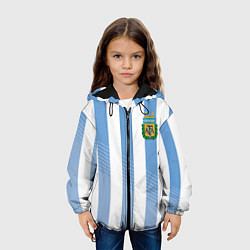 Куртка с капюшоном детская Сборная Аргентины: ЧМ-2018 цвета 3D-черный — фото 2