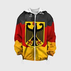 Куртка с капюшоном детская Германия: герб цвета 3D-белый — фото 1