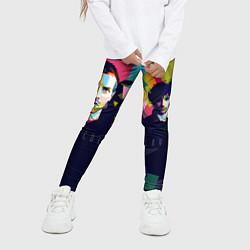 Леггинсы для девочки Coldplay цвета 3D — фото 2