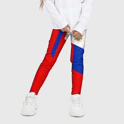 Леггинсы для девочки Russia: Geometry Tricolor цвета 3D — фото 2