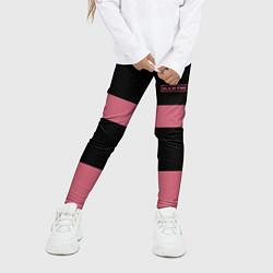 Леггинсы для девочки Black Pink: Logo цвета 3D-принт — фото 2