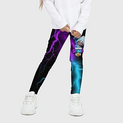 Леггинсы для девочки Brawl Stars LEON SHARK цвета 3D — фото 2