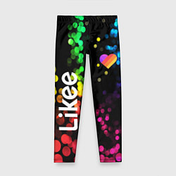 Леггинсы для девочки LIKEE: Like Video цвета 3D — фото 1