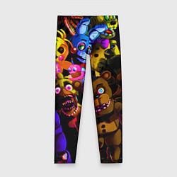 Леггинсы для девочки Five Nights At Freddy's цвета 3D-принт — фото 1