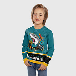 Лонгслив детский San Jose Sharks цвета 3D-принт — фото 2