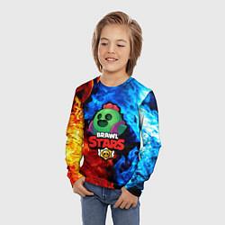 Лонгслив детский Brawl Stars Spike цвета 3D-принт — фото 2