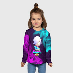 Лонгслив детский BRAWL STARS COLETTE КОЛЕТТ цвета 3D — фото 2