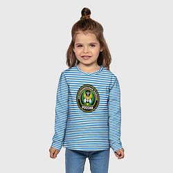Лонгслив детский Тельняшка АВ РФ цвета 3D — фото 2