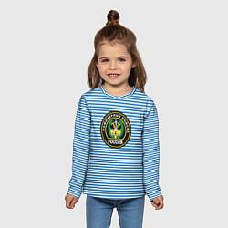 Лонгслив детский Тельняшка ИВ РФ цвета 3D — фото 2