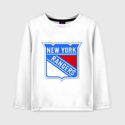 Лонгслив хлопковый детский New York Rangers цвета белый — фото 1