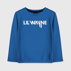 Лонгслив хлопковый детский Lil Wayne цвета синий — фото 1