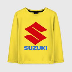 Лонгслив хлопковый детский Suzuki цвета желтый — фото 1