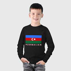 Лонгслив хлопковый детский Азербайджан цвета черный — фото 2
