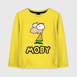 Лонгслив хлопковый детский Moby цвета желтый — фото 1