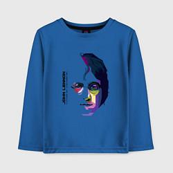 Лонгслив хлопковый детский John Lennon: Techno цвета синий — фото 1
