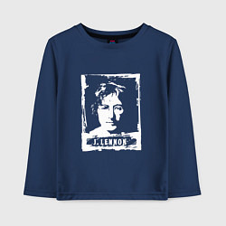 Лонгслив хлопковый детский J Lennon цвета тёмно-синий — фото 1