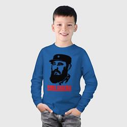 Лонгслив хлопковый детский Fidel Castro цвета синий — фото 2