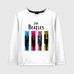 Лонгслив хлопковый детский Walking Beatles цвета белый — фото 1