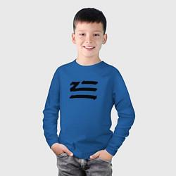 Лонгслив хлопковый детский ZHU цвета синий — фото 2