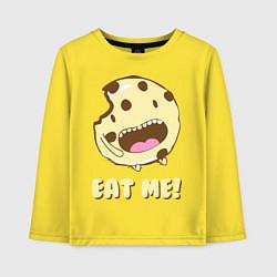 Лонгслив хлопковый детский Cake: Eat me! цвета желтый — фото 1