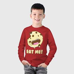 Лонгслив хлопковый детский Cake: Eat me! цвета красный — фото 2