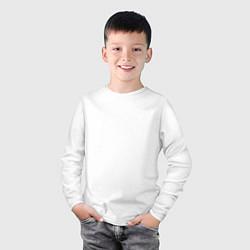 Лонгслив хлопковый детский Miss May I: Angry Lion цвета белый — фото 2