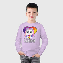Лонгслив хлопковый детский Likee LIKE Video цвета лаванда — фото 2