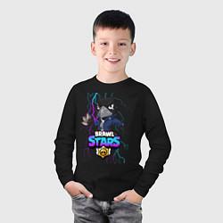 Лонгслив хлопковый детский Brawl Stars CROW цвета черный — фото 2