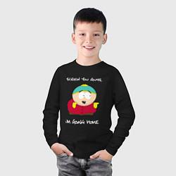 Лонгслив хлопковый детский ЮЖНЫЙ ПАРК цвета черный — фото 2
