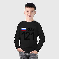 Лонгслив хлопковый детский RUS 121 цвета черный — фото 2