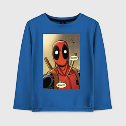 Лонгслив хлопковый детский Deadpool цвета синий — фото 1