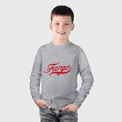 Лонгслив хлопковый детский Fargo цвета меланж — фото 2