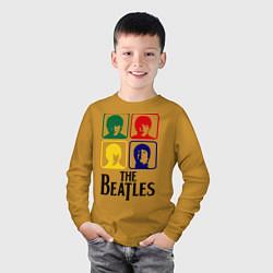 Лонгслив хлопковый детский The Beatles: Colors цвета горчичный — фото 2