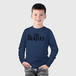 Лонгслив хлопковый детский The Beatles цвета тёмно-синий — фото 2