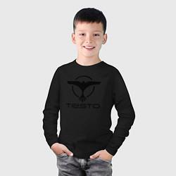 Лонгслив хлопковый детский Tiesto цвета черный — фото 2