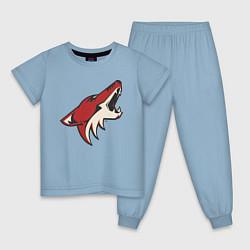 Пижама хлопковая детская Phoenix Coyotes цвета мягкое небо — фото 1