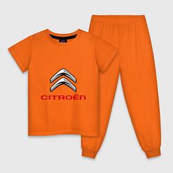Пижама хлопковая детская Citroen цвета оранжевый — фото 1