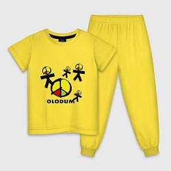 Пижама хлопковая детская Olodum цвета желтый — фото 1