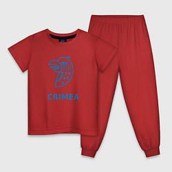 Пижама хлопковая детская Crimea цвета красный — фото 1