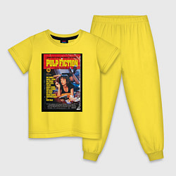 Пижама хлопковая детская Pulp Fiction Cover цвета желтый — фото 1