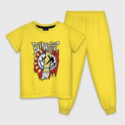 Пижама хлопковая детская Blink-182: Mixed Up цвета желтый — фото 1