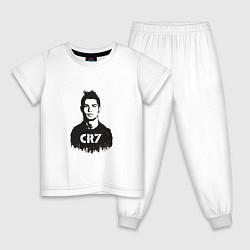 Пижама хлопковая детская Ronaldo CR7 цвета белый — фото 1