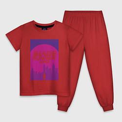 Пижама хлопковая детская Blade Runner 2049: Purple цвета красный — фото 1