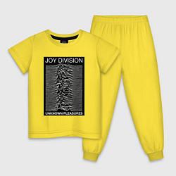 Пижама хлопковая детская Joy Division: Unknown Pleasures цвета желтый — фото 1