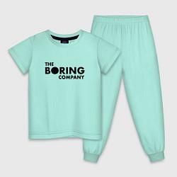 Пижама хлопковая детская The boring company цвета мятный — фото 1