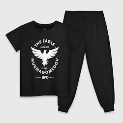 Пижама хлопковая детская The Eagle: Khabib UFC цвета черный — фото 1